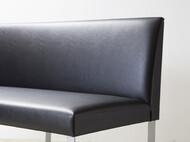 背付きベンチ 120cm 黒(ブラック)レザー