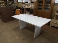 ダイニングテーブル 板脚構造 白 W160cm