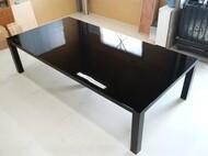 3m x 1.5m 特注ダイニングテーブル 黒