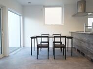次世代素材テーブル マットブラック スチール脚
