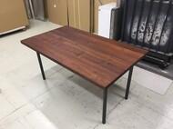 オリジナルダイニングテーブル ウォールナット無垢 スチール丸無垢棒