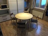札幌市西区 S様邸 宮崎椅子製作所 MMテーブル / pepe arm chair