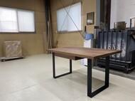 引き出し収納付きダイニングテーブル ウォールナット無垢 札幌市西区 K様
