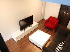 オリジナルテレビボード オリジナルローテーブル 白色鏡面仕上げ 特注サイズ