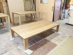 ナラ無垢特注ローテーブル W1800 D900 H370