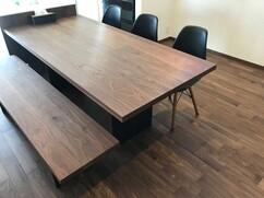ウォールナット無垢 オリジナルダイニングテーブル、ベンチ 愛知県半田市 H様