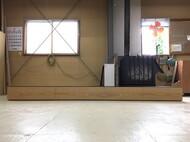 バイオエタノール暖炉用特注テレビボード