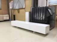 オリジナルテレビボード 2m 白 スチール脚
