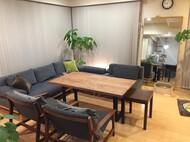 札幌市中央区 A様邸 ウォールナット無垢 ソファテーブル
